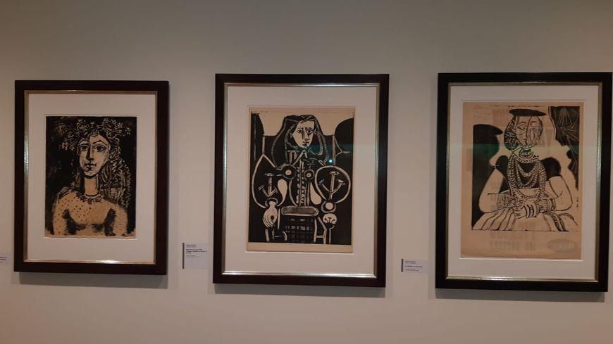 Quelques unes des estampes réalisées par Pablo Picasso, au musée d'Art Moderne-Donation Maurice Jardot à Belfort