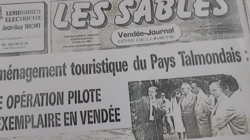 """La Une du Journal des Sables, le 29 juin 1984. Déjà, on parle de projet """"exemplaire"""" et """"pilote""""."""