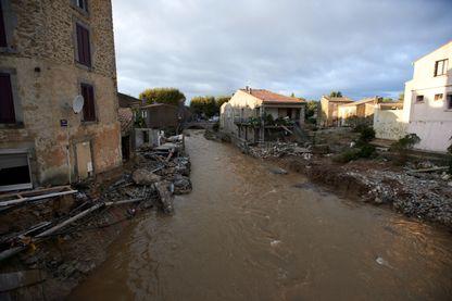 Le village de Villegailhenc, près de Carcassonne, avait été gravement touché par ces inondations.