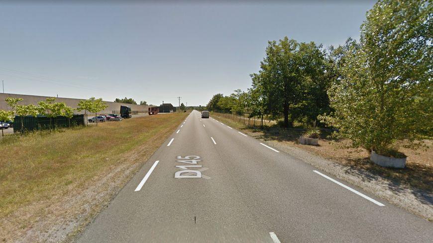 L'accident a eu lieu sur la Départementale 145, face à la prison de Bédenac.