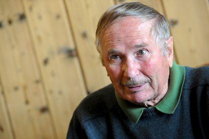 Robert Paragot, ancien mécanicien et pionnier de l'alpinisme moderne, ici en 2012