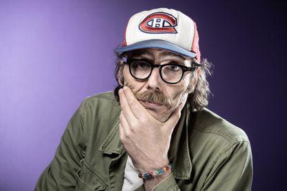 Portrait de l'acteur, réalisateur et scénariste Philippe Rebbot à Paris le 5 avril 2019.