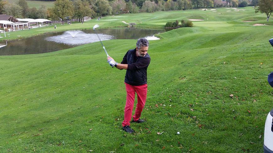 Bruno Saby, ancien coureur automobile et passionné de golf