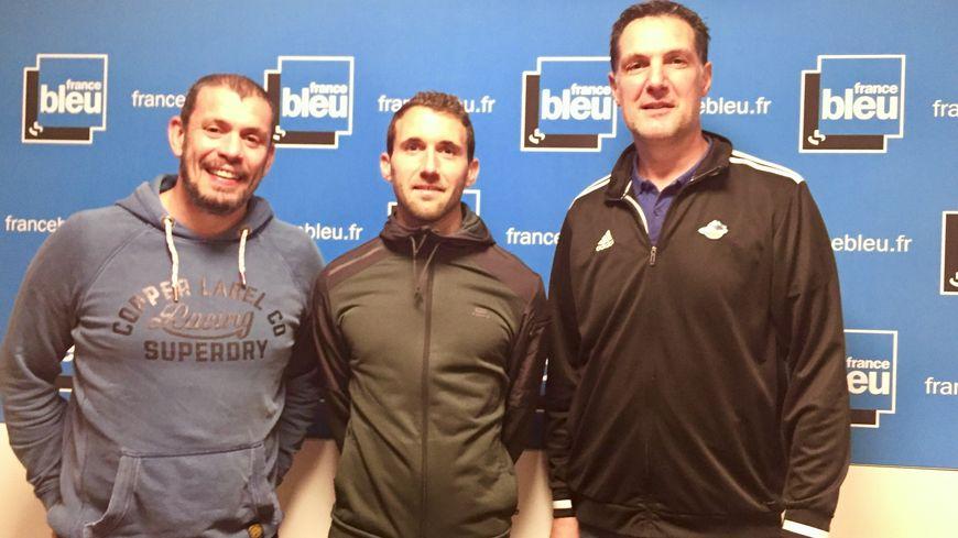 La compo : Nicolas Godignon, Paul Maisonneuve et Didier Gadou, avec aussi par téléphone Mathieu Lemoine.