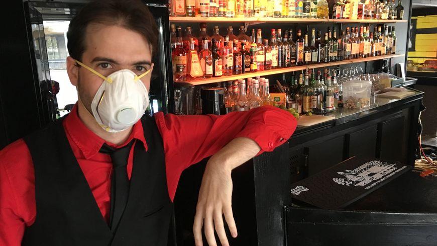 """Xavier alias """"Smithers"""", à l'origine de la soirée, avec son """"déguisement"""""""