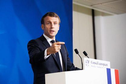 Emmanuel Macron, président de la République, à Bruxelles