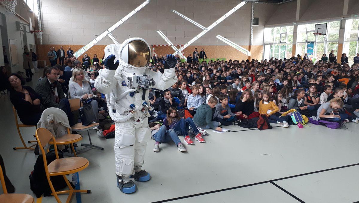Liaison réussie entre des collégiens de Sarralbe et un astronaute dans l'espace