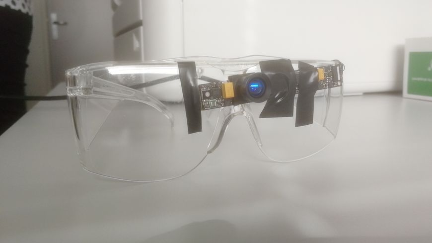 Le prototype de lunettes inventée par Maxime Ambard