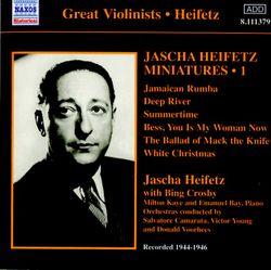 Petite musique de quat'sous : Die Moritat von Mackie Messer (Acte I) - arrangement pour violon et piano - JASCHA HEIFETZ