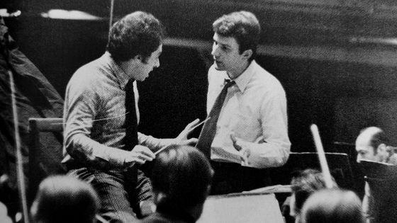 Peter Rösel, piano avec Serge Baudo, chef d'orchestre, lors d'une répétition