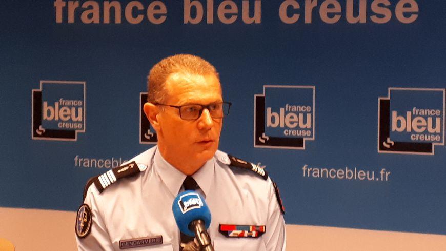 Philippe Vincent, patron de la gendarmerie en Creuse