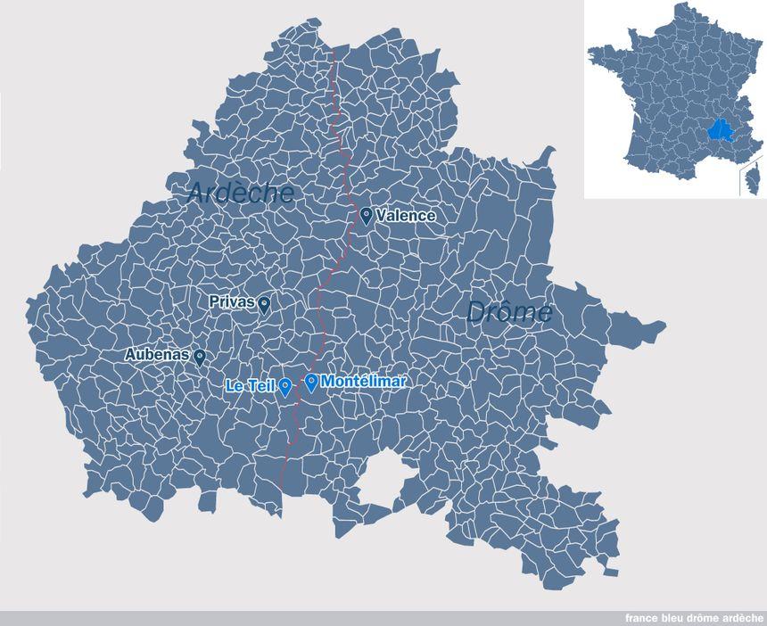 Montélimar, dans la Drôme, et Le Teil, en Ardèche