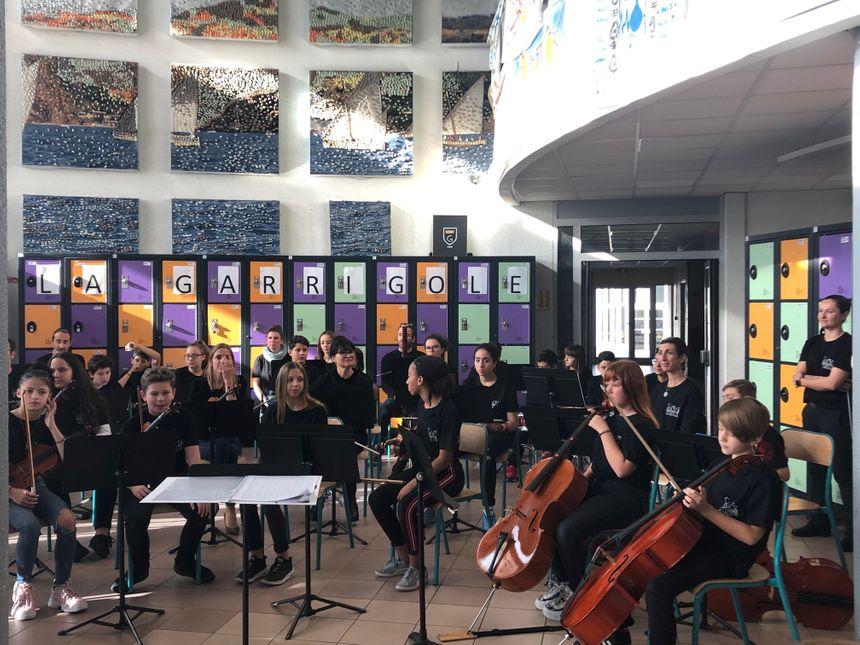 Trente élèves du collège participent à la classe orchestre