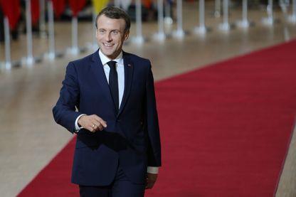 Emmanuel Macron lors du dernier sommet européen
