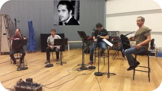 Les Sonneurs en enregistrement à la Seine musicale et Pierre-Yves Macé (par Camille Tauveron) en vignette