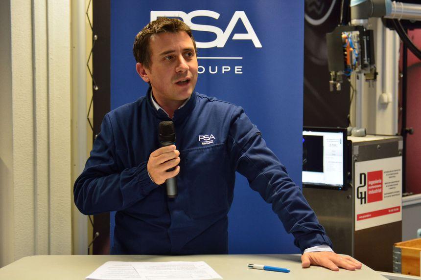 Thierry Robert, directeur de la production chez PSA Sochaux, a parlé innovation technologique devant une quarantaine de chefs d'entreprise