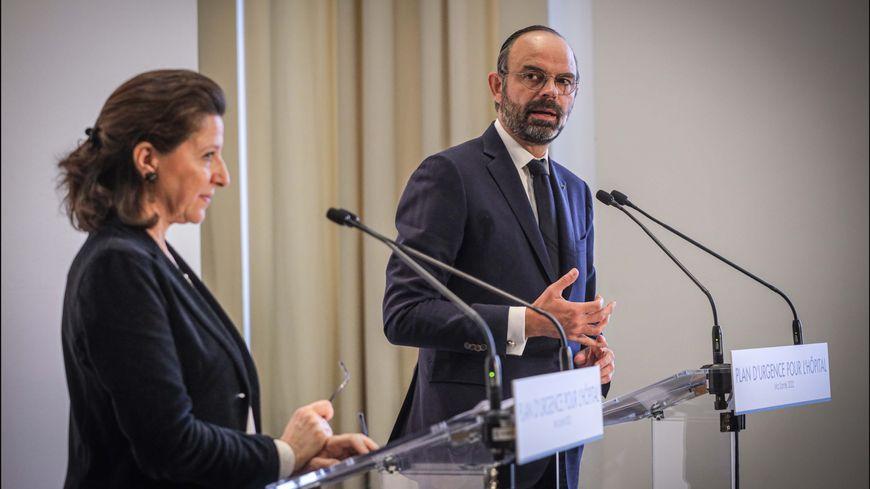 Edouard Philippe et Agnès Buzyn présentent les mesures d'urgence pour l'hôpital