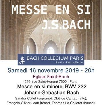 Affiche les 10 ans du Bach Collegium Paris