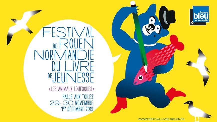 Affiche festival livre jeunesse Rouen 2019