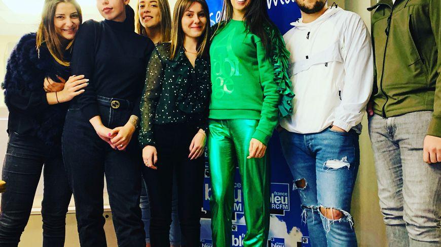 Kristina LUZI en compagnie des élèves de l'IMF Borgo invités dans nos studios