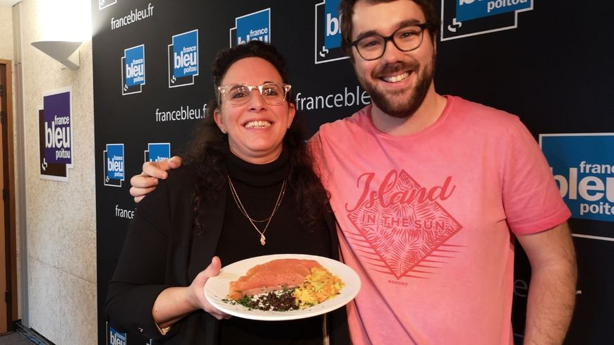 Natacha Bercovici et son excellent saumon gravlax