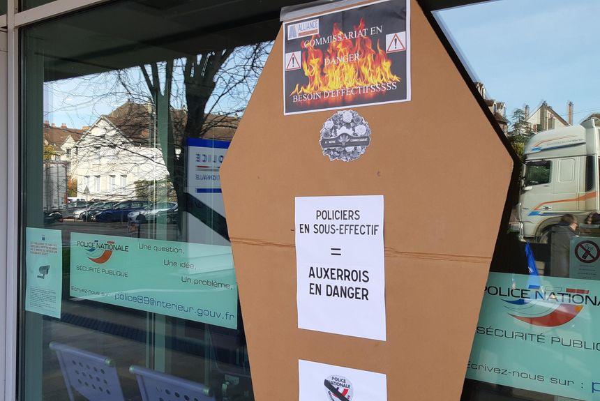 Les policiers d'Auxerre mobilisés