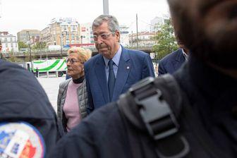 Arrivee du Maire de Levallois Perret, Patrick Balkany avec sa femme Isabelle Balkany au Tribunal de Grande Instance de Paris pour assister au rendu du verdict de leur proces pour fraude fiscale (13/09/2019)