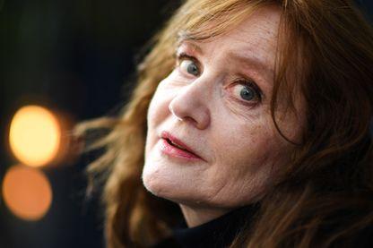 L'écrivaine Auður Ava Ólafsdóttir après avoir reçu le prix littéraire Prix Medicis étranger à Paris, le 8 novembre 2019.