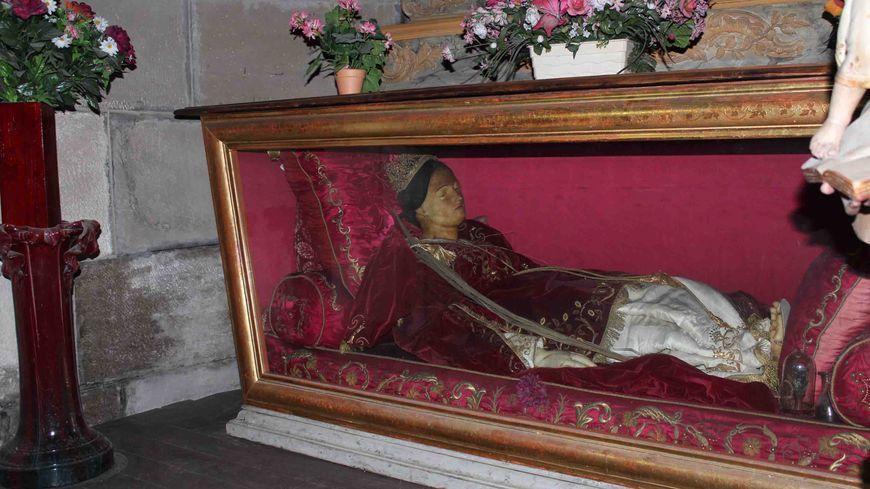 Statue de cire, relique d'Eutychiana, cathédrale de Valence