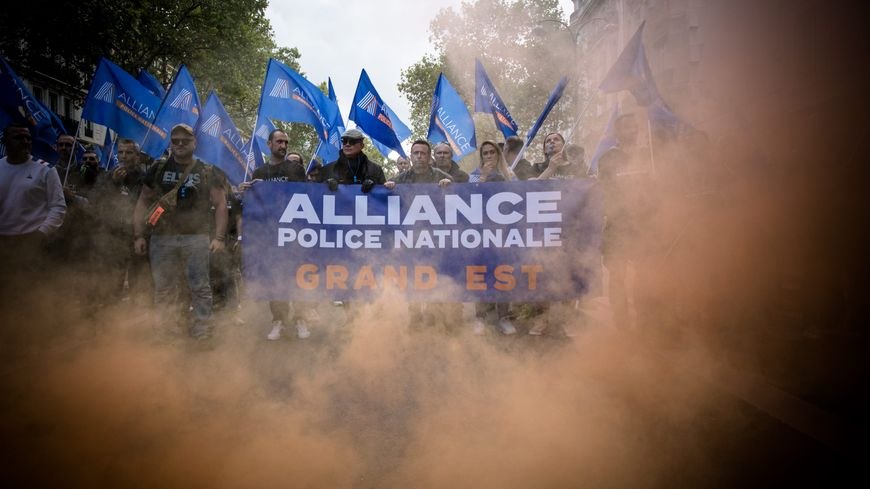 27.000 policiers avaient manifesté à Paris, le 2 octobre dernier.