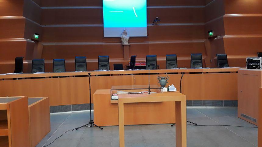 La salle d'audience de la Cour d'assises où le verdict a été rendu