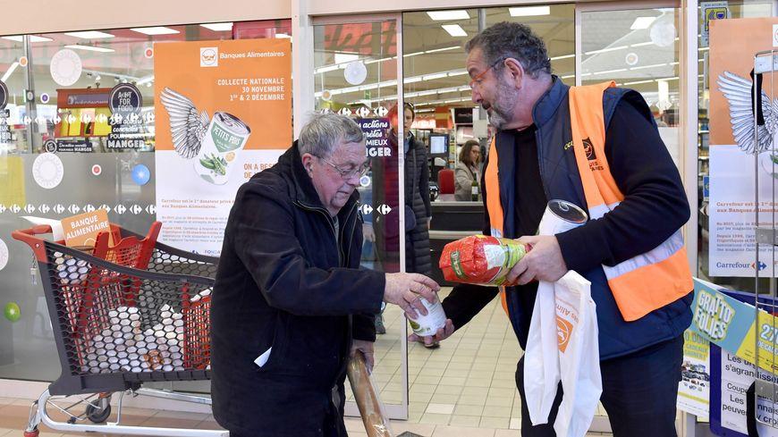 La collecte de la Banque alimentation, en 2018 (image d'illustration, à Rennes)