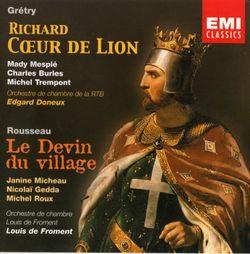 Richard Coeur de lion : O Richard ô mon roi (Acte I) Air Blondel - MICHEL TREMPONT