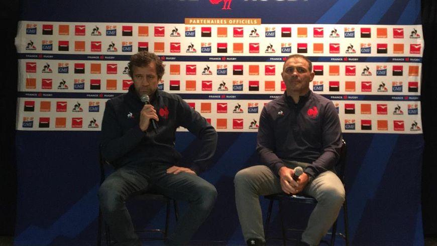 Fabien Galthié, nouveau sélectionneur du XV de France aux côtés de Raphaël Ibanez, le manager