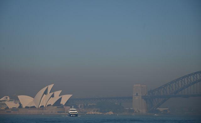 """Le niveau de particules fines à Sydney a atteint un niveau """"dangereux""""."""