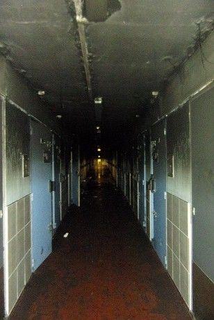 Un couloir  du 3 ème étage, après l'incendie - Aucun(e)