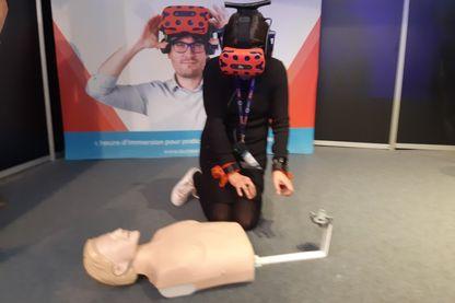 Initiation aux gestes qui sauve avec la réalité virtuelle