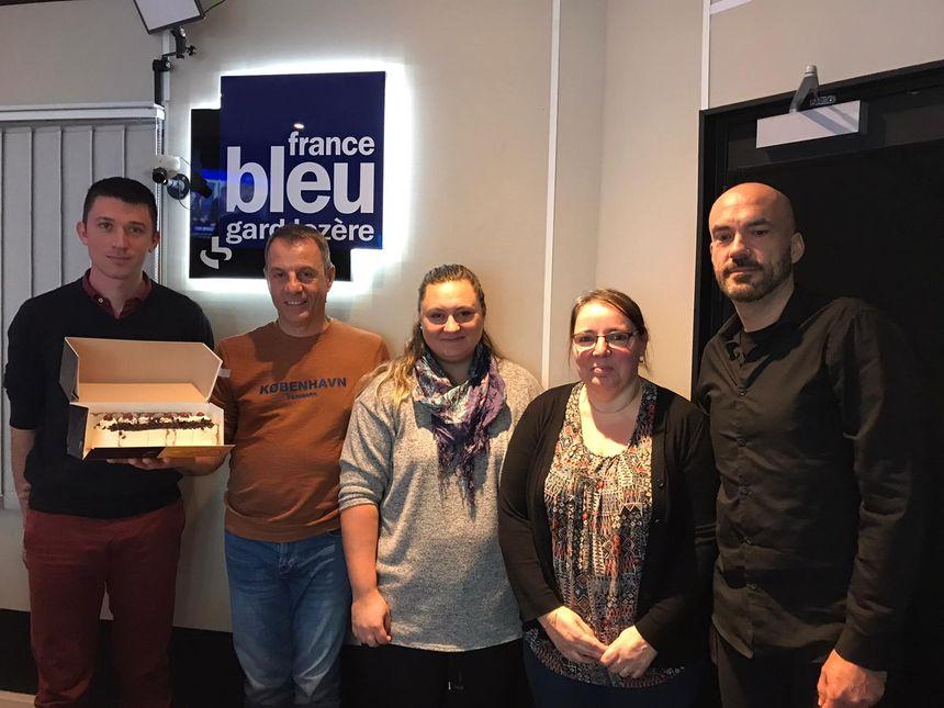 Nicolas Tardieu Ferrand , Luc Carrascosa , Elsa Tardieu Ferrand , Sandrine Clauzel et Mickael Rudiger