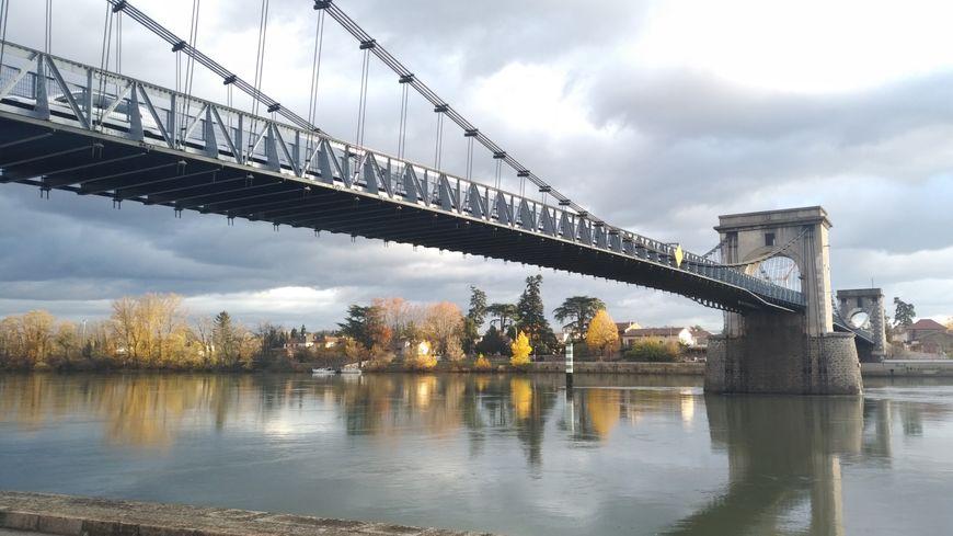 Le pont d'Andance, inauguré après 4 mois de travaux de rénovation, le 29 novembre 2019.
