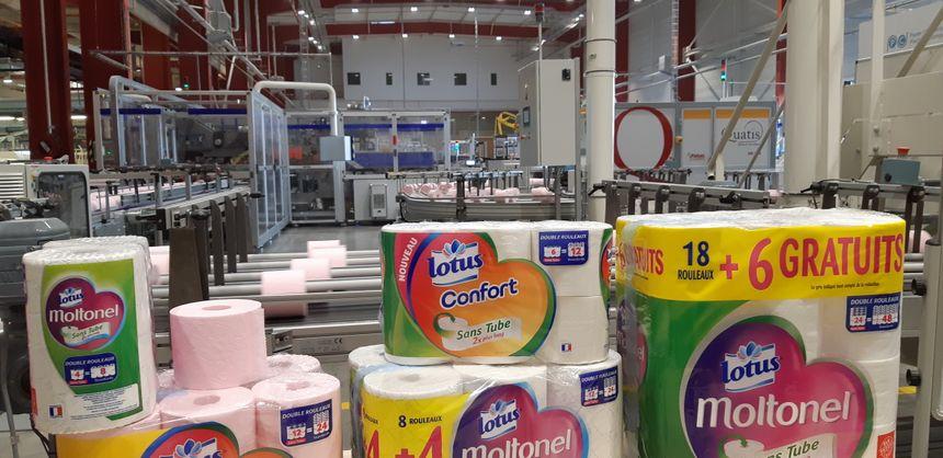 Plus de deux millions de rouleaux de papier toilette par jour sont fabriqués à Gien