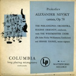 Alexandre Nevsky op 78 : The battle on the ice - pour choeur mixte et orchestre