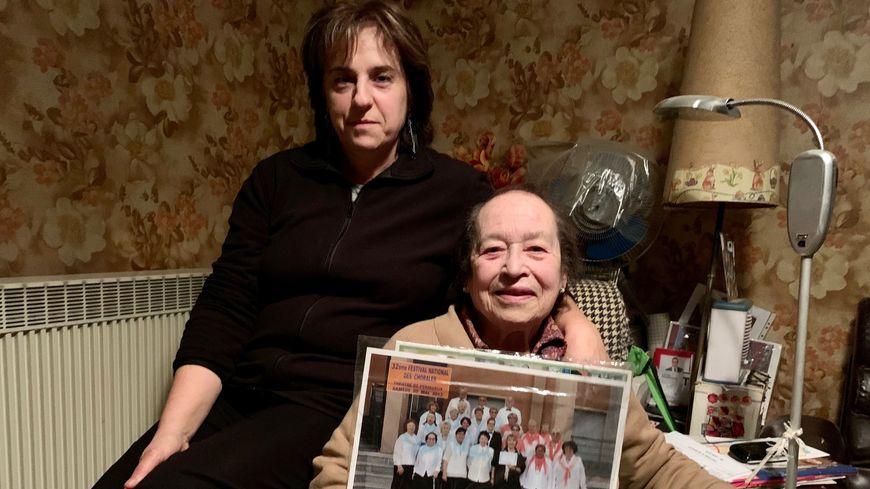 Georgette 96 ans et son amie Sylvie