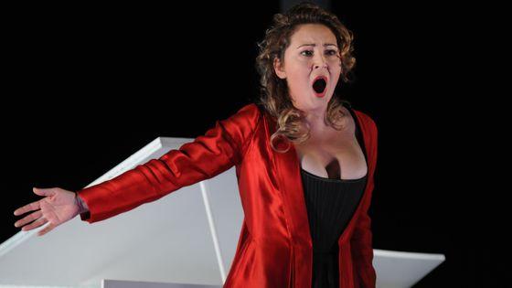 La mezzo-soprano Karine Deshayes dans Werther de Massenet à l'Opéra de Lyon en 2011