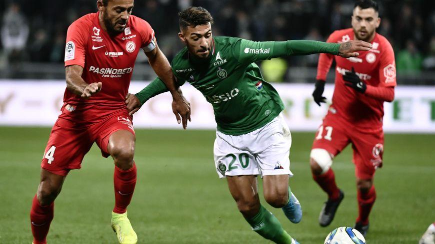 Les Verts ont lutté pendant 90 minutes face à Montpellier