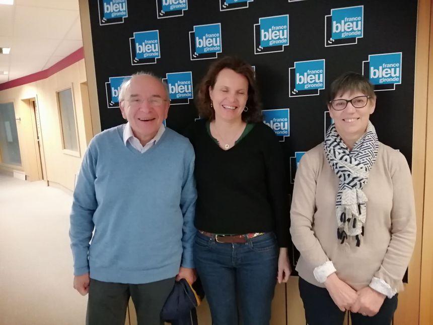 Maurice Susz, Mutiel Quilichini et Françoise Casadebaigt