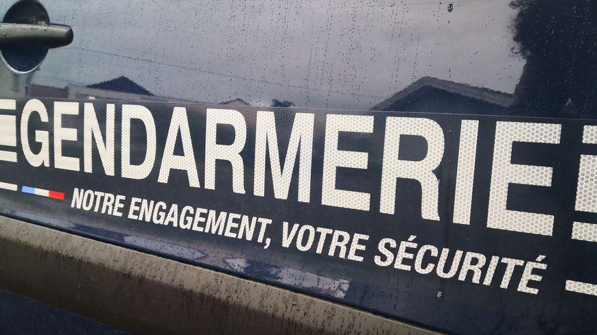 Portière d'une voiture de gendarmerie (photo d'illustration)