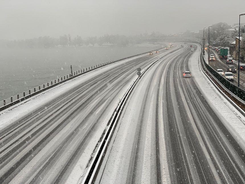 L'autoroute A7 au niveau de Valence vers 16H