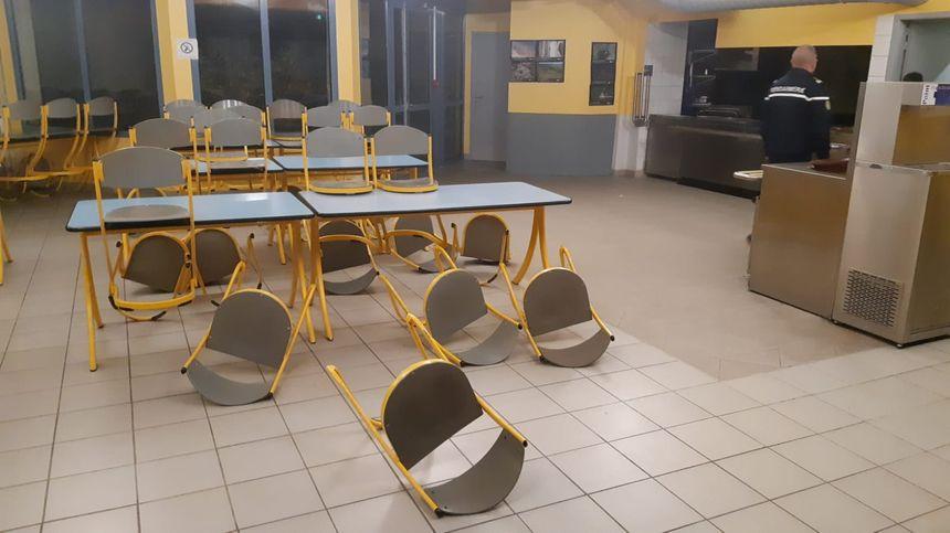 Des dégâts au lycée Xavier Mallet au Teil (Ardèche) causés par le séisme
