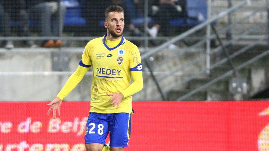 Gaëtan Weissbeck a contribué au succès des jaune et bleu face au Havre (2-0)