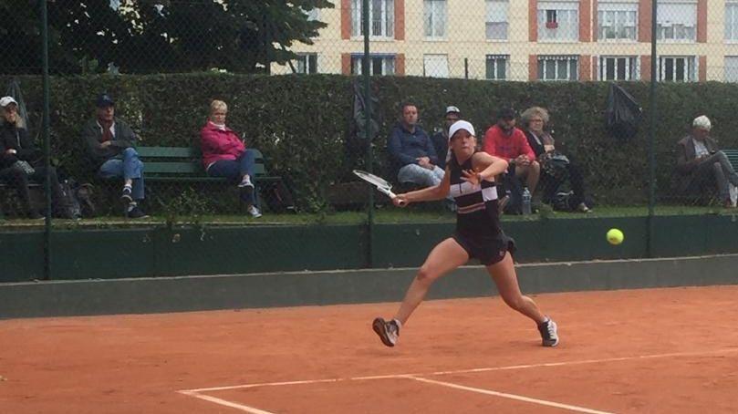 Jade Psonka lors des qualifications au tournoi de Roland-Garros cette année
